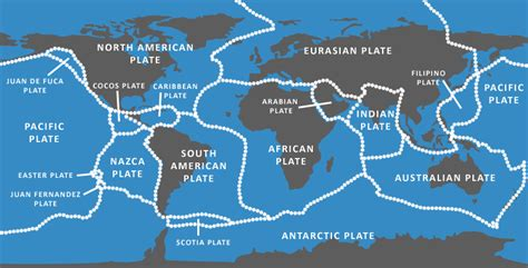 tectonic plate map plate tectonics at 50 getech