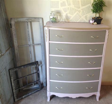 made vintage provincial dresser pink and