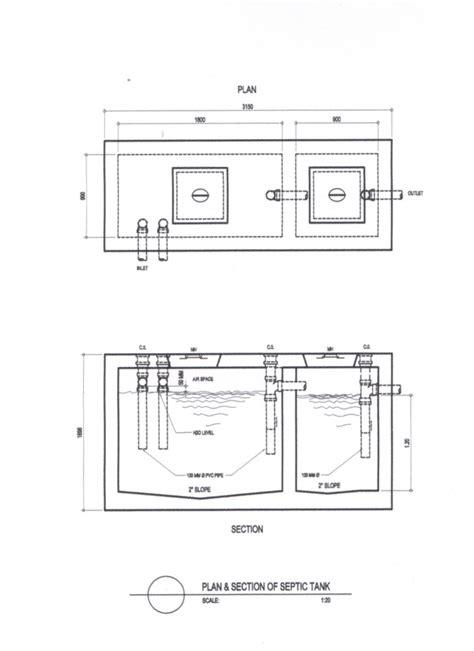septic tank section pl 02 septic tank plan plumbing details sunny b ojeda