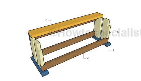 build a saw bench wood saw bench plans howtospecialist how to build step by step diy plans