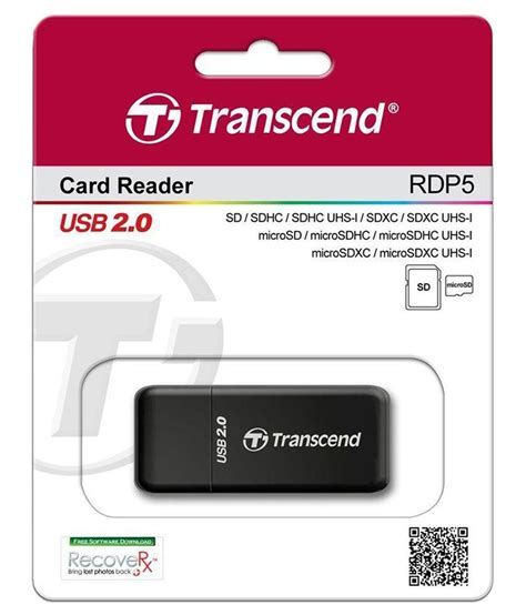 Transcend Card Reader Usb 2 0 Rdp8 transcend ts rdp5k black card reader available at snapdeal