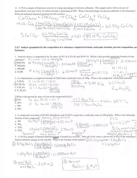 Molecular Compounds Unit 6 Worksheet 4