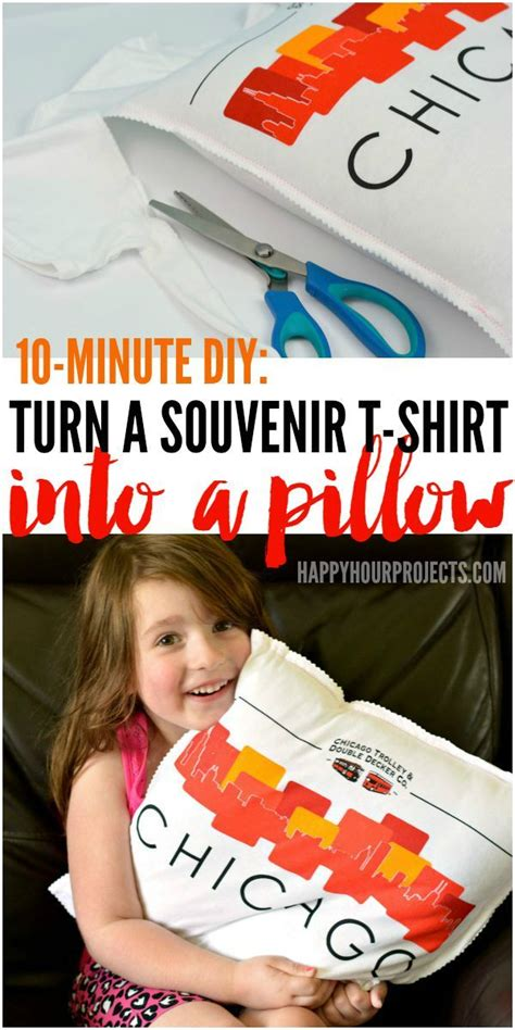 Pillow Blouse Bd T1310 how to turn a souvenir t shirt into a pillow in just 10 minutes at www happyhourprojects
