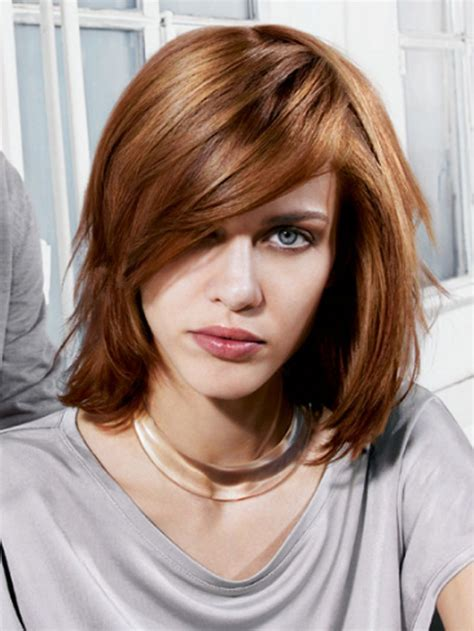 Women s medium haircuts with bangs 2018