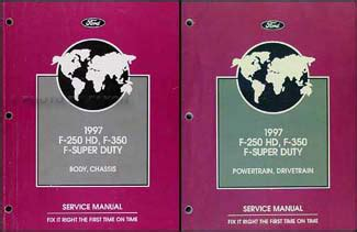 ford   hd    super duty service manual  volume set original