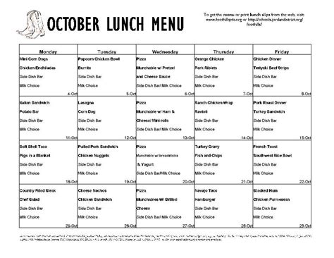 doc 895692 6 school lunch menu template bizdoska com