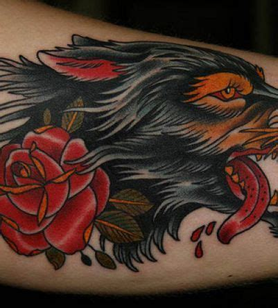 wolf with rose tattoo 17 best images about wolf tattoos on tribal