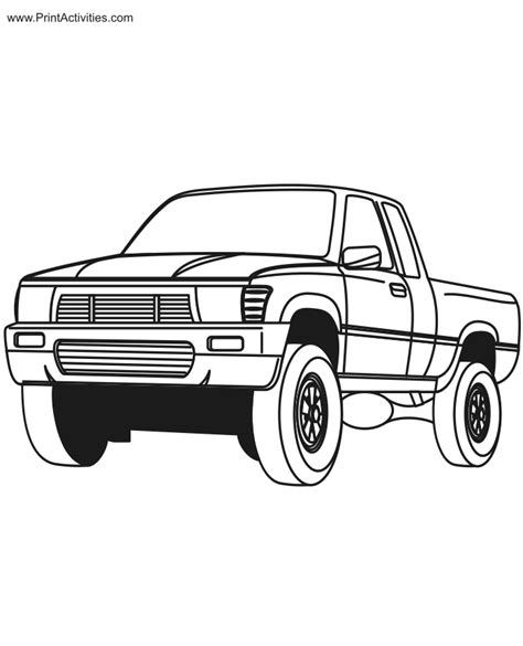 pickup truck coloring page free coloring sheet