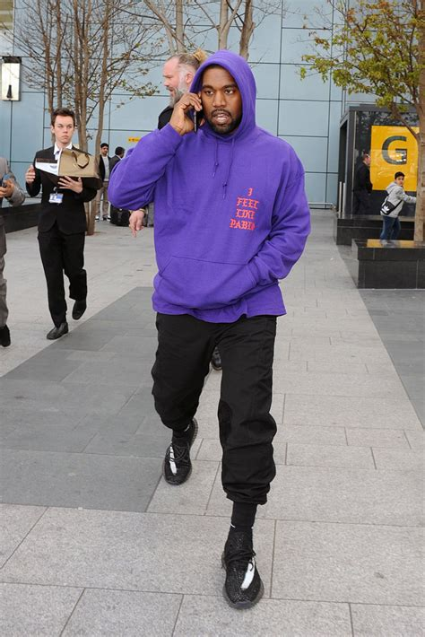 jonathan pryce kanye west must see kanye west wears unreleased yeezys again photos