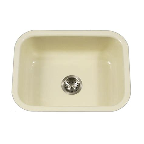 Single Bowl Porcelain Kitchen Sink Houzer Porcela Series Undermount Porcelain Enamel Steel 23 In Single Bowl Kitchen Sink In