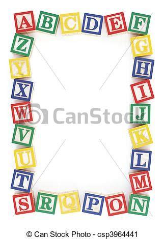 archivi fotografici di alfabeto cornice abc blocco