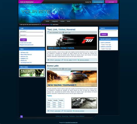 theme drupal photo egamers drupal theme