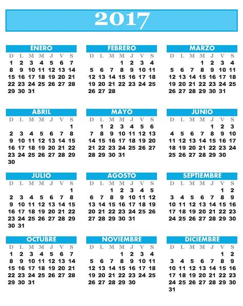 Calendario Anual Para Imprimir 2017 Calendario Anual 2017 Para Imprimir Related Keywords