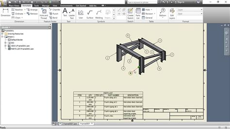 flat pattern drawing inventor insert quot item qty quot column in parts list autodesk inventor