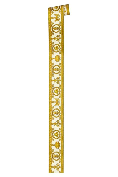 gold wallpaper border versace home wallpaper border medusa white gold 34305 2