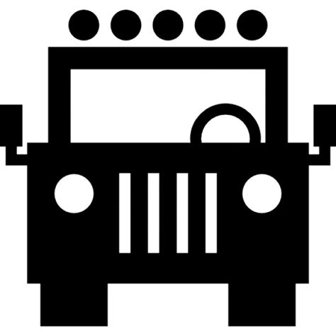 jeep grill icon jeep front view icons free