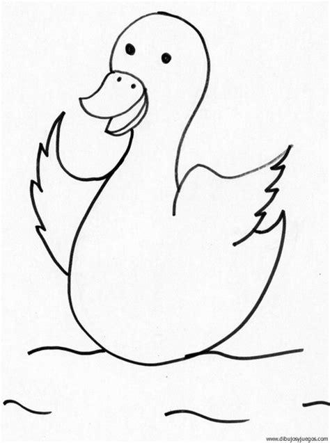 imagenes para colorear un pato dibujo de pato 049 dibujos y juegos para pintar y colorear