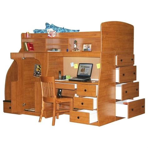 berg loft bed berg furniture play and study twin loft bed with desk 91