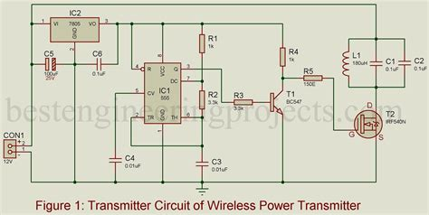 wireless power circuit diagram wireless mobile charger circuit diagram best engineering