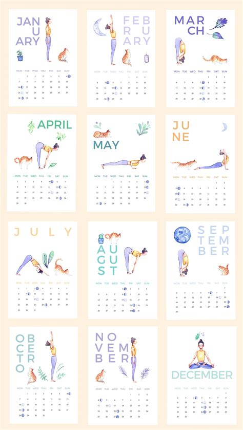 collect illistrated calendar template  calendar