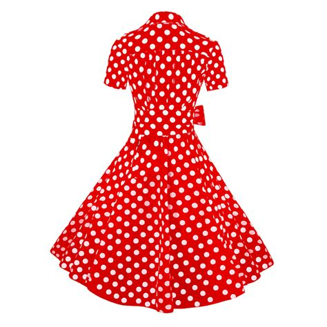 red polka dot swing dress vintage red polka dot short sleeves swing rockabilly ball