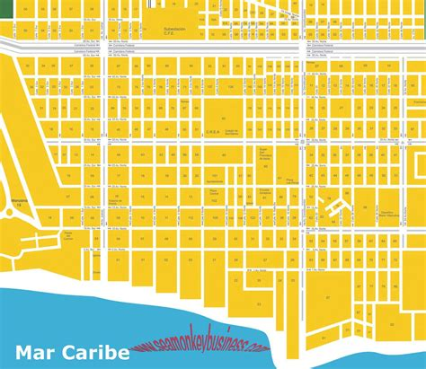 printable map playa del carmen maps playa del carmen quintana roo riviera maya map