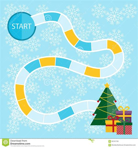christmas board game stock vector image 60191769