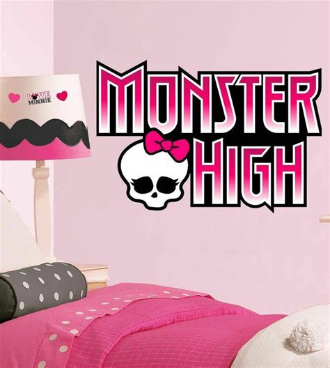 monster high home decor monster high logo decal removable wall sticker home decor