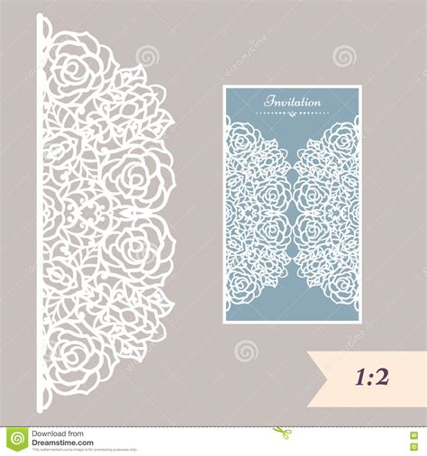 paper ornament template wedding invitation or greeting card with abstract ornament
