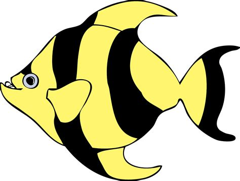 clipart fish tropical fish clip black and white clipart panda