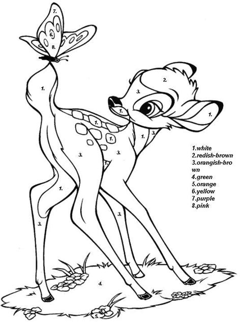 disney coloring pages by numbers 1000 images about color by number on pinterest