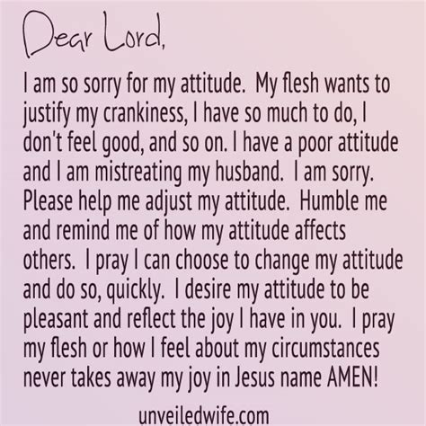 Apology Letter To Husband For Prayer Attitude Adjustment