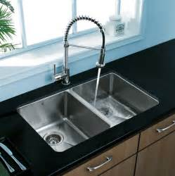 Stainless Steel Undermount Kitchen Sinks Vigo Vg2918 29 Inch Undermount Stainless Steel 18 Bowl Kitchen Sink