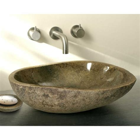 bathroom bowl basin finwood designs pebble sit on granite wash bowl uk bathrooms