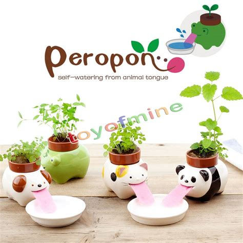 cute pots for plants cute ceramic cultivation peropon drinking animal planter