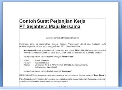 75 contoh surat perjanjian kerjasama usaha jasa dan investasi surat