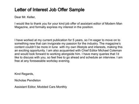 letter of interest template word svptraining info