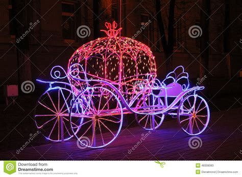 cinderella carriage lights the cinderella carriage editorial stock photo image of