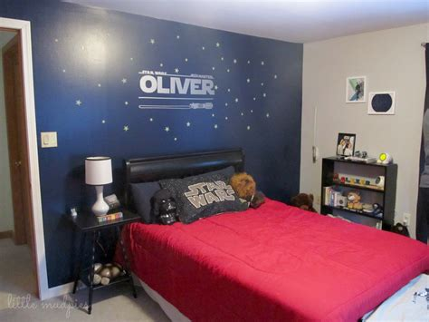 star wars decorations for bedroom star wars themed bedroom via little mudpies one dark wall