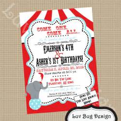 circus birthday invitation printable invites by luvbugdesign