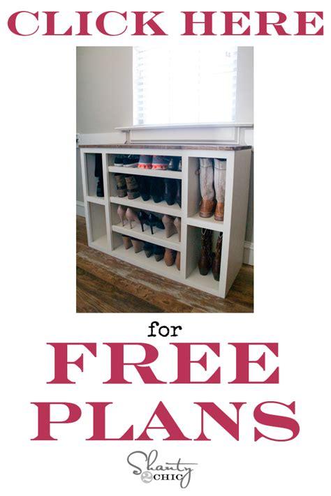 diy shoe cabinet plans diy shoe storage cabinet shanty 2 chic