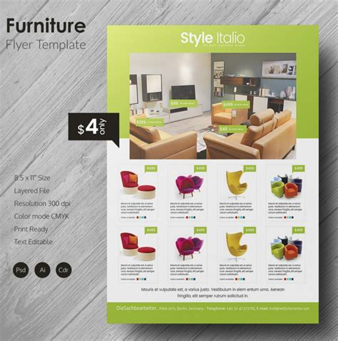 furniture design templates 135 psd flyer templates free psd eps ai indesign