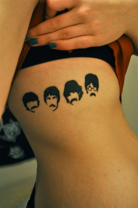 beatles tattoo designs george harrison lennon mustache paul mccartney