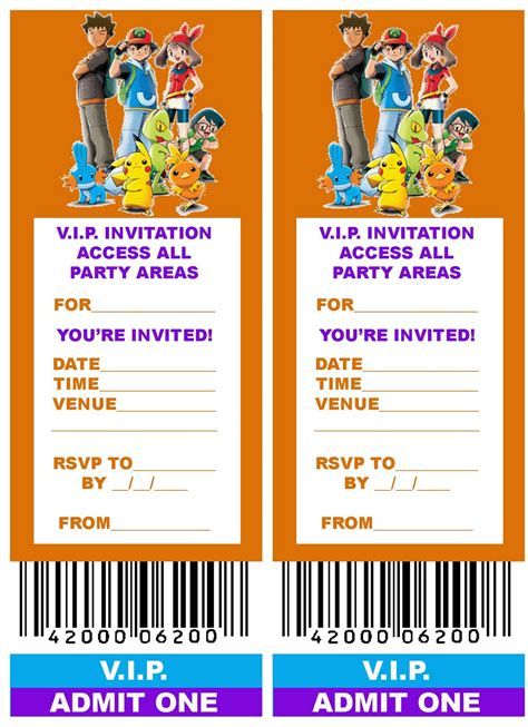 printable tickets invitations free printable vip ticket style birthday party invitation