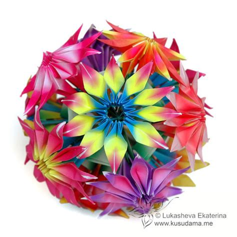 Origami Modular Flower - tutorial gloriosa modular origami flowers the