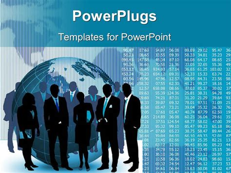 powerpoint presentation templates for entrepreneur powerpoint template silhouette of business team and earth