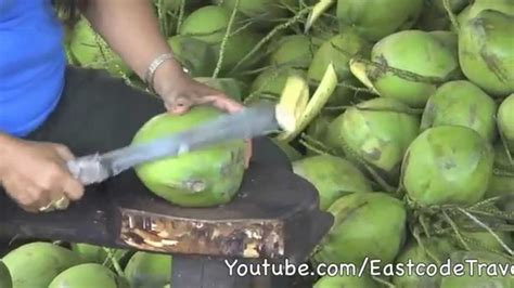 coconut cutting thailand