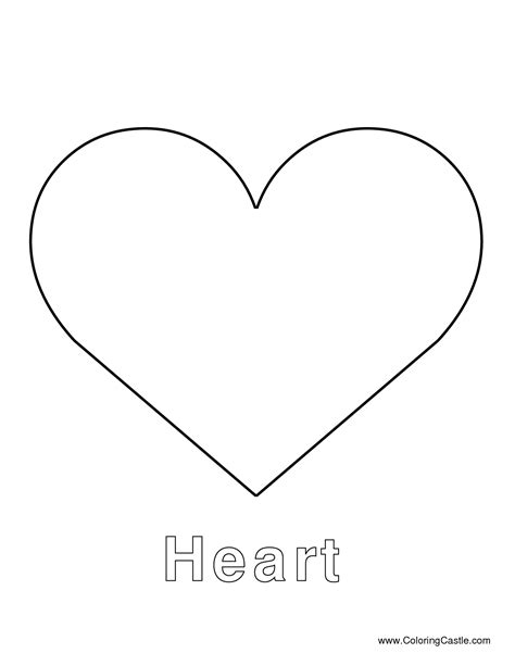 heart template large heart template printables