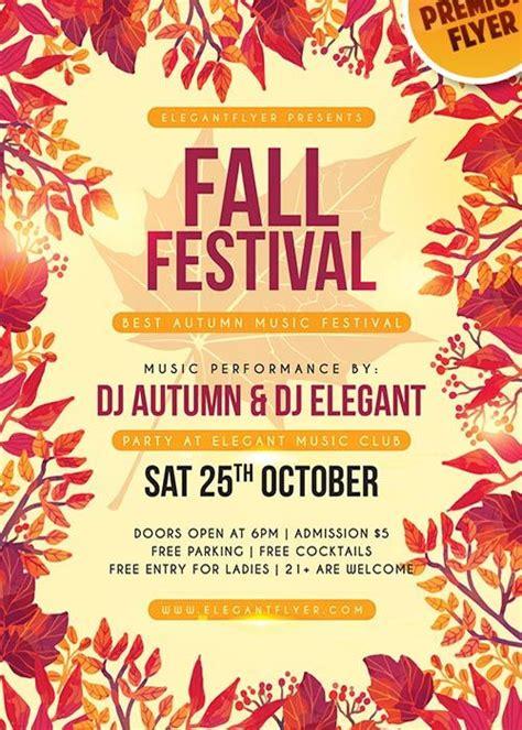 fall festival v11 flyer psd template facebook cover