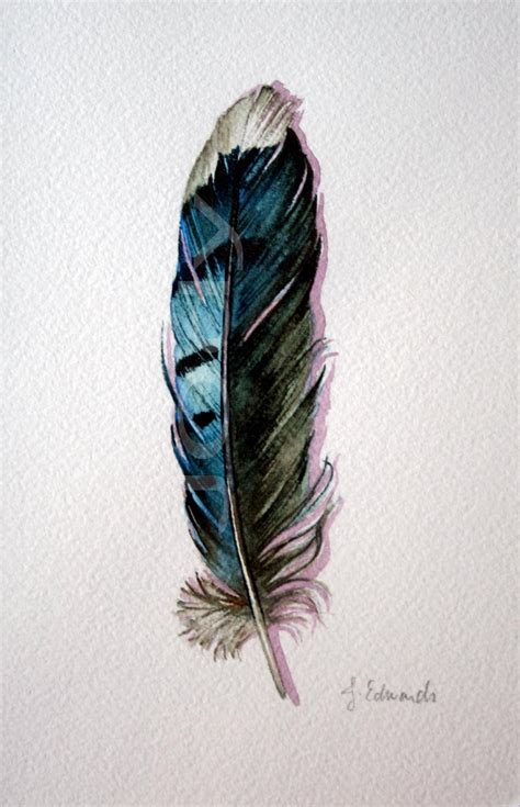 watercolor tattoo feather pin watercolor feather jerra copp tatua on